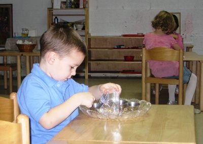 Concentrating on Montessori Primary Materials