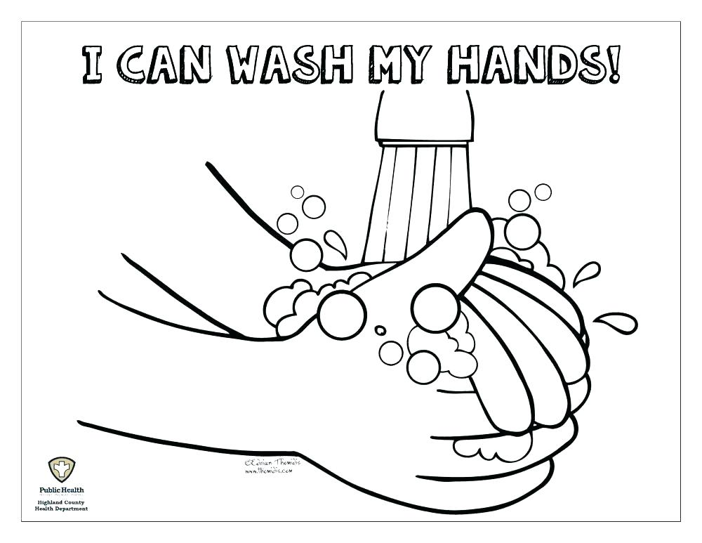 Wash Your Hands Germs Like Coronavirus Coloring Pages Printable | 773x1000